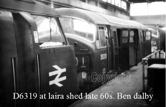 D6319 at laira shed late 60s. Ben dalby